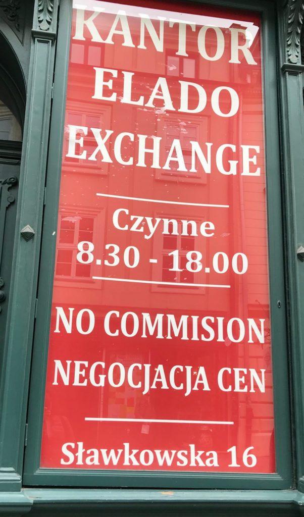 Kantor elado - la mejor casa de cambio de Cracovia