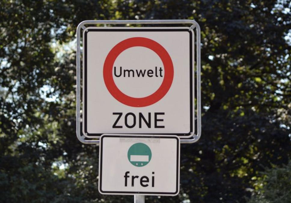 señal de zona ambiental en Alemania