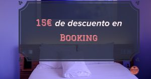 15€ de descuento para reservas en Booking