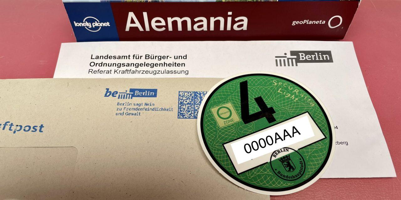 Cómo solicitar la pegatina ambiental para Alemania